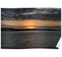 Scattery Island sunset Poster