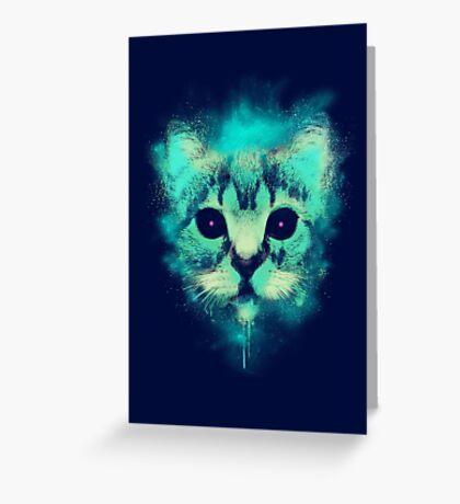 Cosmic Cat Greeting Card