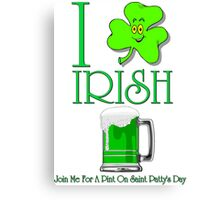 I Love Irish Beer Canvas Print