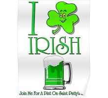 I Love Irish Beer Poster