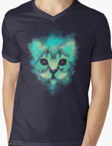 Cosmic Cat Mens V-Neck T-Shirt
