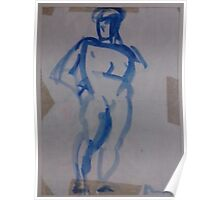BLUE MAN FIGURE - COPY FROM ART BOOK(C1982) Poster