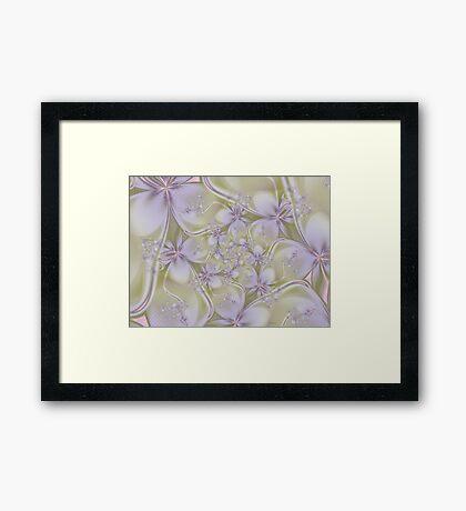 Textured Fractal Flowers Framed Print