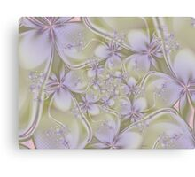 Textured Fractal Flowers Canvas Print