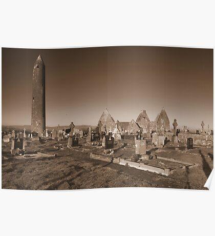 Kilmacduagh cemetery Poster