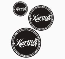 KARMA LOGO X3 ( BLACK LOGO)  by KARMA TEES  karma view photography