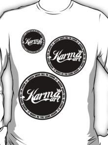 KARMA LOGO X3 ( BLACK LOGO)  T-Shirt