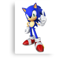 Sonic - Sonic the Hedgehog Canvas Print