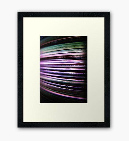 Colour Me Purple Framed Print
