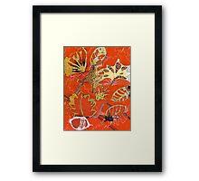 Leaves 27 Mixed Media - Ink on Acrylic Monoprint Framed Print