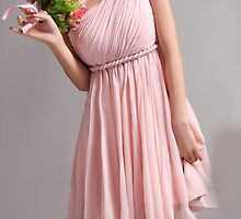 kissybridesmaid - cute pink bridesmaid dress by scotthuber
