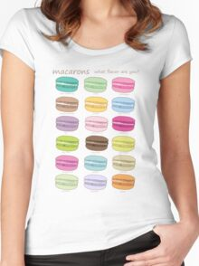 Which macaron are you? Women's Fitted Scoop T-Shirt