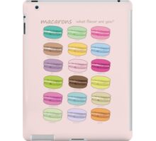 Which macaron are you? iPad Case/Skin