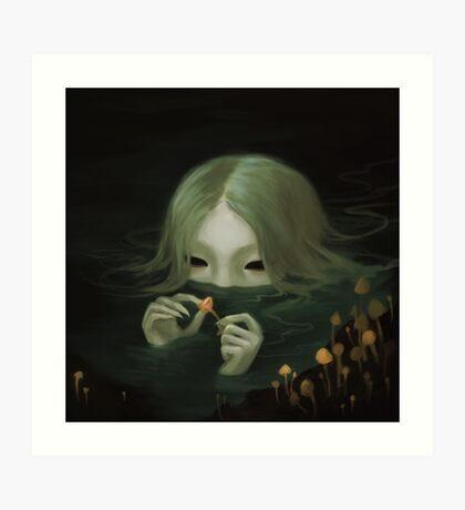 swamp girl lurking Art Print