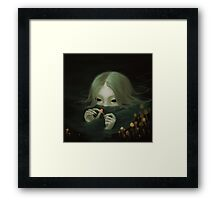 swamp girl lurking Framed Print
