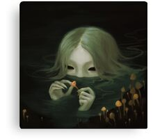 swamp girl lurking Canvas Print
