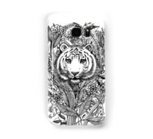 Tiger Tangle in Black and White Samsung Galaxy Case/Skin