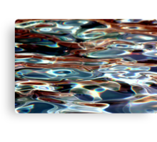 Colored Water Canvas Print