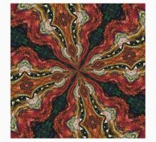 Red, Green And Gold Swirl Pattern Kids Clothes