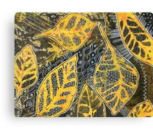 Leaves 23 Mixed Media - Ink on Acrylic Monoprint Canvas Print