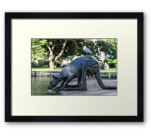 Kangaroos In The City 1 - Perth WA - HDR Framed Print
