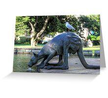 Kangaroos In The City 1 - Perth WA - HDR Greeting Card