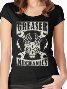 Rockabilly Greaser Mechanics Vintage Design Women's Fitted Scoop T-Shirt