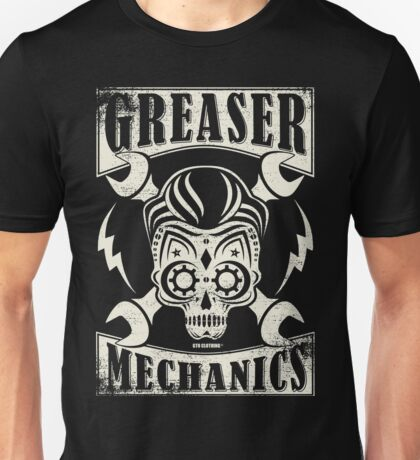 Rockabilly Greaser Mechanics Vintage Design Unisex T-Shirt