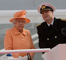 Her Majesty the Queen officially named Britannia in Southampton by Keith Larby