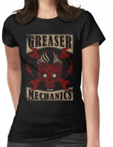 Rockabilly Greaser Mechanics Vintage Design | Classic Womens Fitted T-Shirt