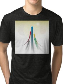 Abstract Olympic Competition Background Tri-blend T-Shirt
