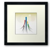 Abstract Olympic Competition Background Framed Print