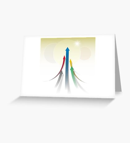 Abstract Olympic Competition Background Greeting Card