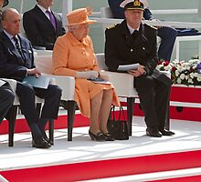 """Her Majesty the Queen officially named Britannia in Southampton"""" by Keith Larby"""