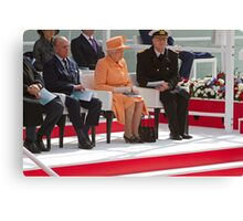 """Her Majesty the Queen officially named Britannia in Southampton"""" Canvas Print"""