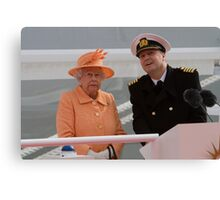 Her Majesty the Queen officially named Britannia in Southampton Canvas Print
