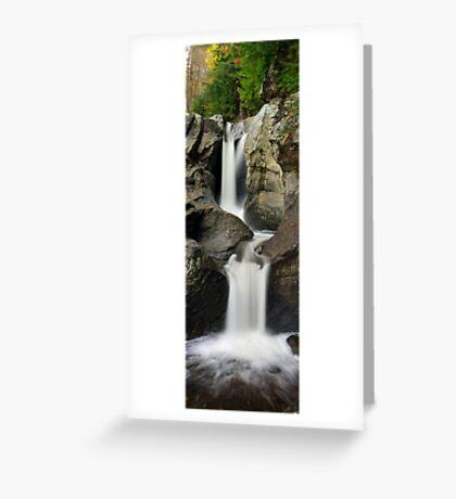 Bolton Potholes - Vertical Panorama Greeting Card