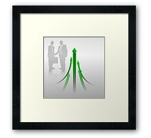 Abstract Cooperation Background Framed Print