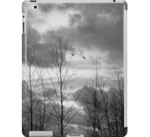 As the crow flies in black and white iPad Case/Skin