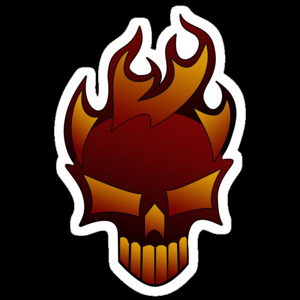 Fire Skull by Rhonda Blais