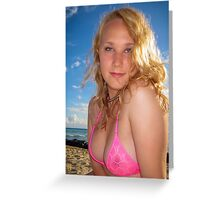 Blonde Beach Beauty Greeting Card