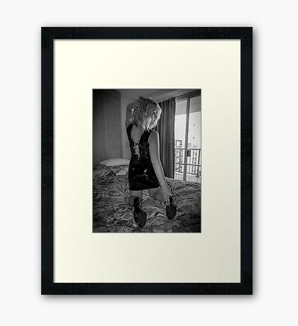Beguile Noir Framed Print