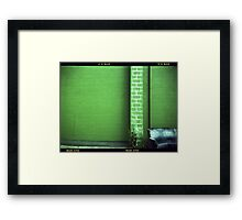 Blue Couch Green Wall Framed Print