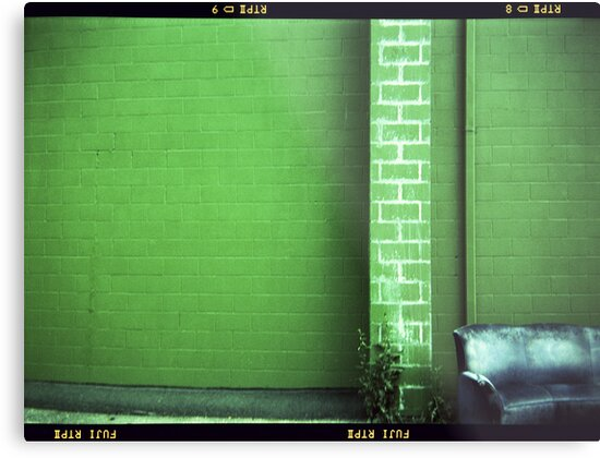 Blue Couch Green Wall by Paul Lavallee