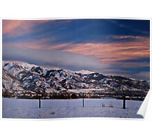 Sunset Partly Cloudy Poster