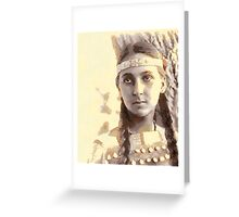 Lucille American Dakota Indian 1907 Greeting Card