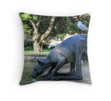 Kangaroos In The City 1 - Perth WA - HDR Throw Pillow