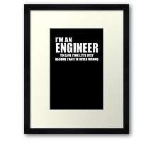 Engineer Funny Geek Nerd Framed Print