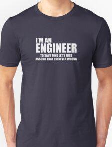 Engineer Funny Geek Nerd Unisex T-Shirt