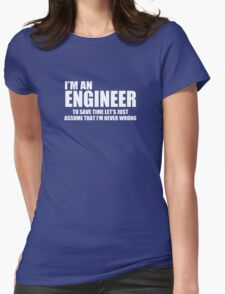 Engineer Funny Geek Nerd Womens Fitted T-Shirt